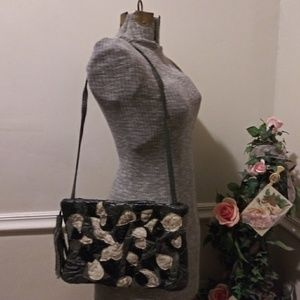 Vintage Tiana Snakeskin and Leather Purse